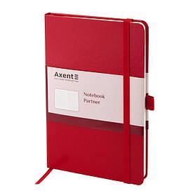 Записная книга блокнот Axent 125x195мм 96л клетка,тв. обл.,красный Partner 8201-03-A