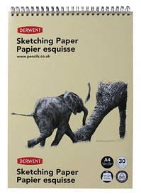 Альбом для малювання Derwent A4 30л 165г/м2 Портрет форм рисунок папір спіраль 5028252051132