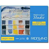 Альбом для акварели с акварельной бумагой Fabriano A4 75л 300г/м2 Watercolor Studio среднее зерно склейка 8001348163046