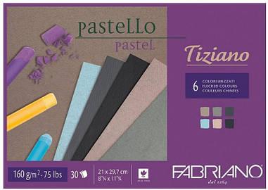 Альбом для пастелі Fabriano A4 30л 160г/м2 Tiziano холодні кольори склейка 8001348156895