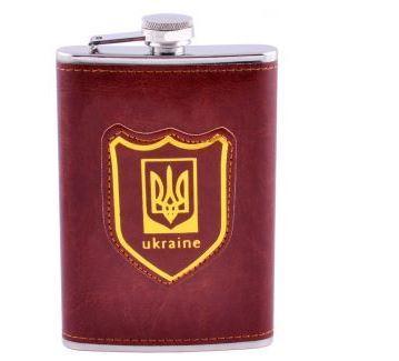 Фляга обтягнута шкірою (256мл) Україна PB-9