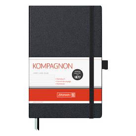 Записная книга блокнот А5 Brunnen 192 л. линия твердая обложка чёрный Компаньон 10-552 27 05