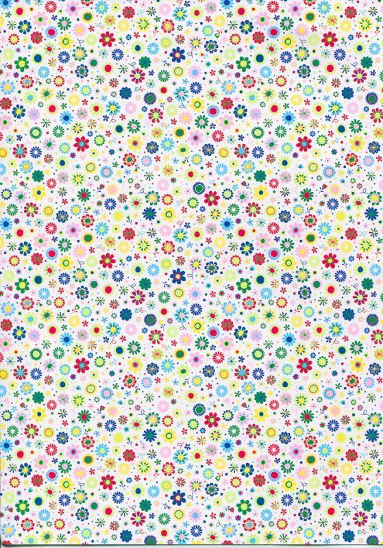 Бумага для скрапбукинга с рисунком А4 Heyda Мелкие цветы 21x29.7см 300г/м2 4823064988536