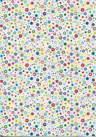 Бумага для скрапбукинга с рисунком А4 Heyda Мелкие цветы 21x29.7см 300г/м2 4823064988536, фото 2