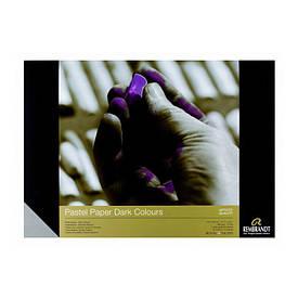 Склейка для пастели REMBRANDT 160гр / м.кв 29х42см темные оттенки, 30л., Royal Talens