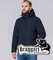 Braggart Evolution 2475   Мужская Куртка демисезонная с искусственным мехом синяя р.46