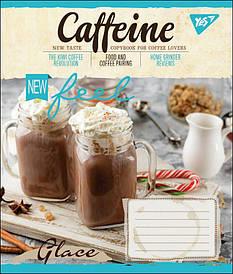 Зошит в клітку 18л YES CAFFEINE мікс 4 обкладинки (764672)