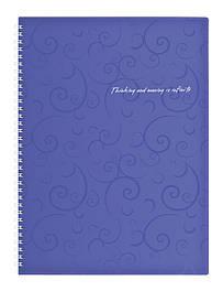 Записна книга коледж-блок А4 Buromax 80 арк. клітка пласт. обл. спіраль фіолетовий Barocco BM.2446-60