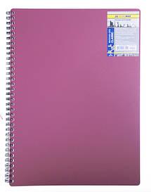 Записна книга блокнот А4 Buromax 80 арк. клітка пласт. обл. спіраль червоний CLASSIC BM.2446-005