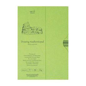 Склейка для акрилу і масла в папці AUTHENTIC (DRAWING) А4, 290г/м2, 20л., папір білий, SMILTAINIS