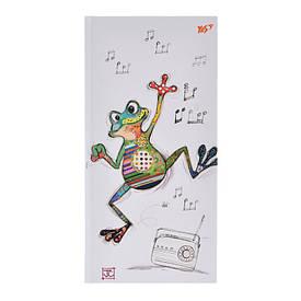 "Блокнот 100x200/64 ЛІН. 7БЦ, фольга золото+Уф.виб. ""BugArt. White frog"" YES"
