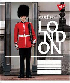 Тетрадь в линию 24л YES LONDON микс 4 обложки (764728)