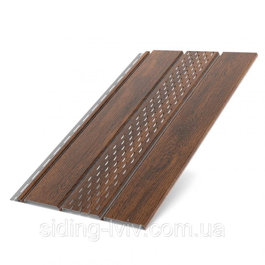Софит Бриза Орех Классический подшивка крыши 1,22 м (Bryza 4мх0,30см)