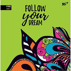 """Блокнот 150x150/64 Б/ЛІН. інтеграції. """"Follow your dream"""" YES"""