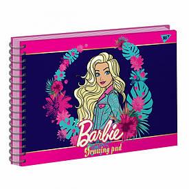 """Альбом для малювання А4 20л/100 """"BARBIE"""" на спіралі фольга золото+софт-тач+УФ-виб. YES"""