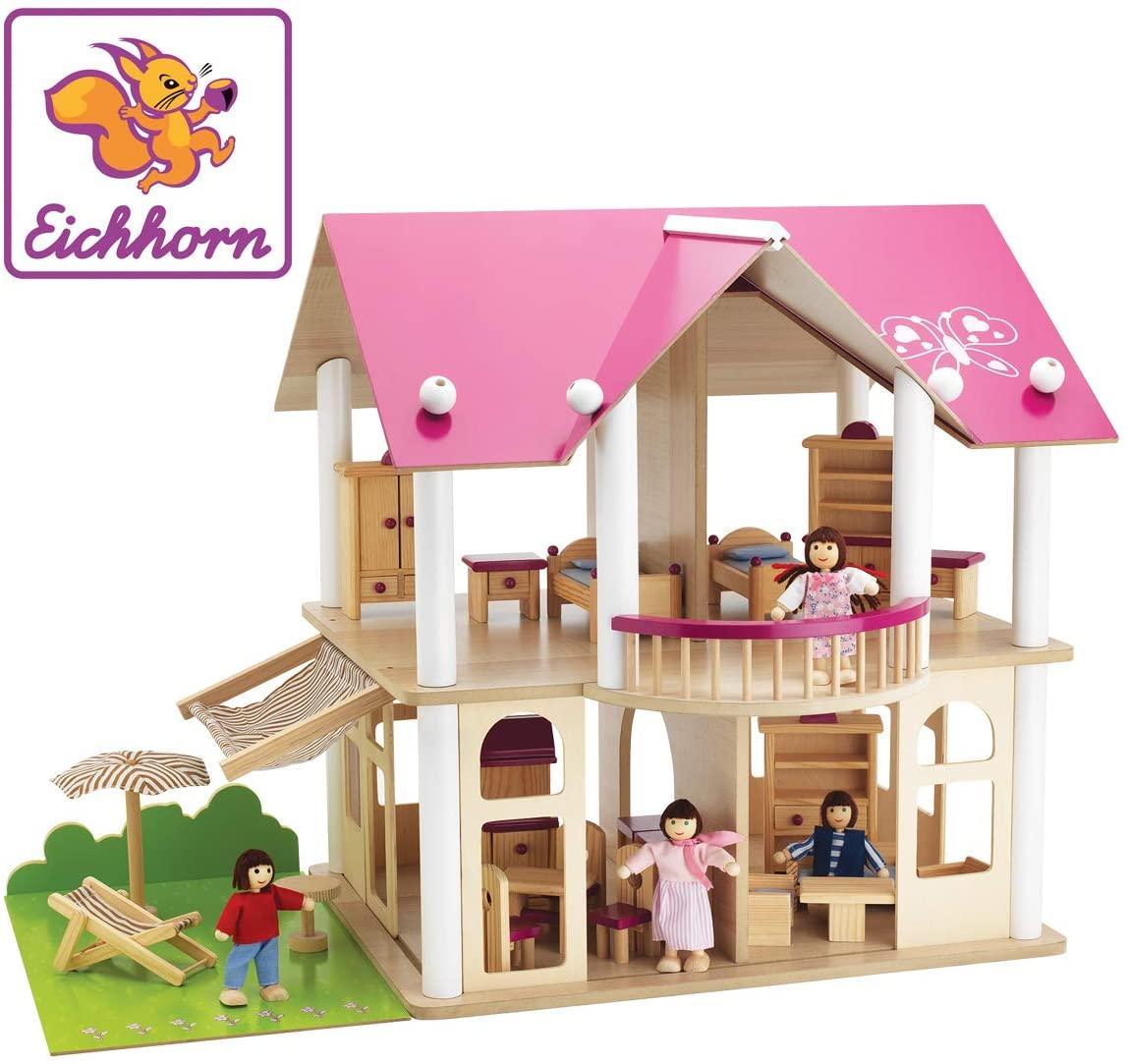 Деревянный домик для кукол Розовая мечта Eichhorn 100002513