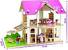 Деревянный домик для кукол Розовая мечта Eichhorn 100002513, фото 5
