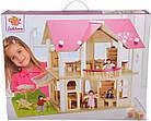 Деревянный домик для кукол Розовая мечта Eichhorn 100002513, фото 4