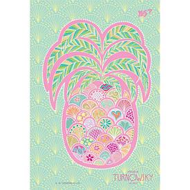 Тетрадь В6/144 пл.обл. Turnowsky. Art pineapple  YES