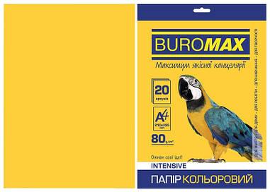 Папір кольоровий А4 Buromax INTENSIV 80гм2 жовтий 20л.(BM.2721320-08)