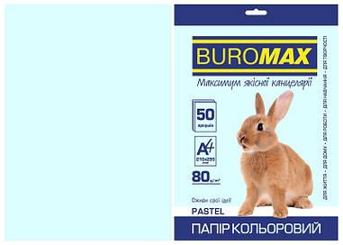 Папір кольоровий А4 Buromax PASTEL 80гм2 блакитний 50л. (BM.2721250-14)