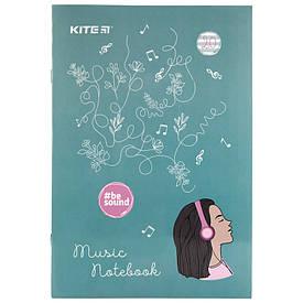Зошит для нот Kite BeSound А4, 20 л мікс 4 обкладинки (к19-404-2)
