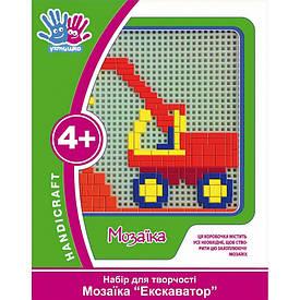 Набор для творчества 3D Мозаика ''Экскаватор''