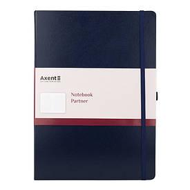 Записна книга блокнот Axent 295х210мм 100л клітка,синій Partner Grand 8203-02-a