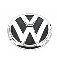Эмблема Volkswagen 2 пукли 80мм пластик-резиновый пыльник