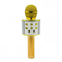 Портативный караоке микрофон Wster WS-858 Золотистый (G101001221)