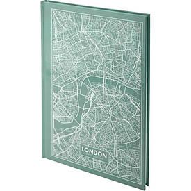 Записна книга блокнот Axent Maps London А4 96арк клітина бірюзовий (8422-516-A)