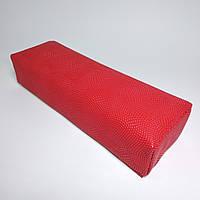Подлокотник для маникюра, с узором красный