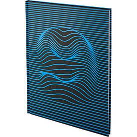 Книга записна А4 Numbers 80л., кл., блакитна