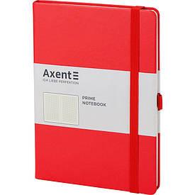 Записная книга блокнот Axent Partner Prime 145x210мм 96л клетка,красный (8305-06-A)
