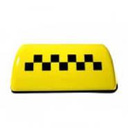 Фішка таксі на магніті жовта з підсвічуванням