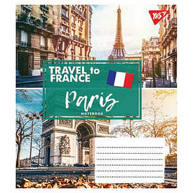 Зошит в лінію 60 л YES А5 TRAVEL TO EUROPE мікс 4 обкладинки (763861)