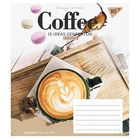 Зошит в лінію 60 л YES А5 COFFEE мікс 4 обкладинки (763994)