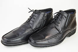 Ботинки мужские цигейка Everest 9568-3 черные кожа мех 44,45 размер
