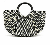 Женская плетеная сумка корзинка 40х26см без подкладки и застежки