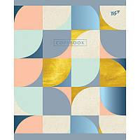 Тетрадь в клетку 24 л YES А5 Abstract синяя+УФ-выб.+ламинация+фольга микс 4 обложки (763251)