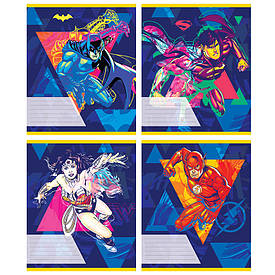 Тетрадь в линию 18 л Kite DC comics микс 4 обложки (DC20-237)