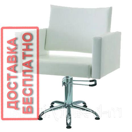 Перукарське крісло квадратне для салону краси SHERYL крісла клієнтів перукаря на гідравліці Польща