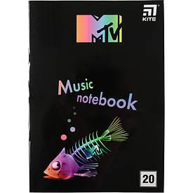 Зошит для нот Kite MTV А4, 20 л (MTV20-404-2)