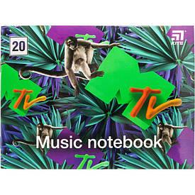 Тетрадь для нот Kite MTV А5, 20 л (MTV20-405-1)