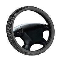 Чехол на руль Кож.зам L (39-40см) черный Elegant 105501