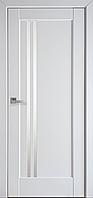 """Дверь межкомнатная остеклённая новый стиль Ностра """"Делла BLK,G"""" 60,70,80,90 см белый матовый"""