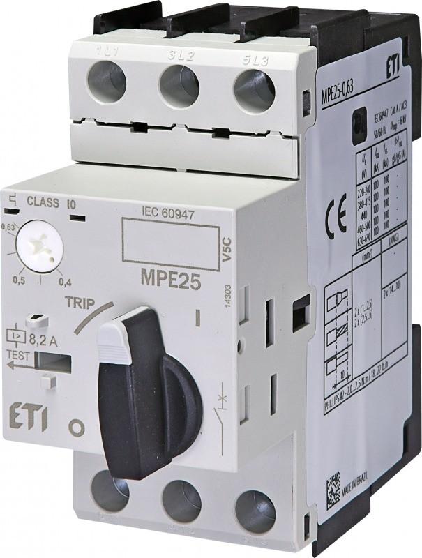 Автоматический выключатель защиты двигателей ETI MPE 25-20