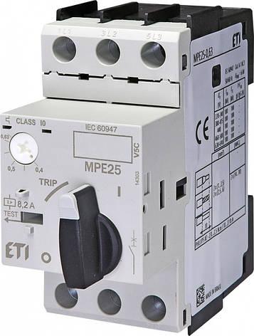 Автоматический выключатель защиты двигателей ETI MPE 25-20, фото 2