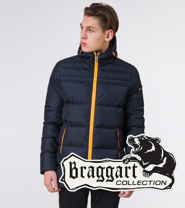 Подросток 13-17 лет | Куртка зимняя Braggart Teenager 71293 темно-синяя