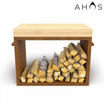 Стол - дровница AHOS Wood (специальное ржавое покрытие)